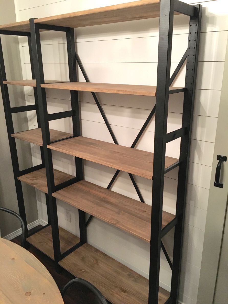 My divine home ikea ivar hack industrial shelving unit for Diy industrial bookshelf