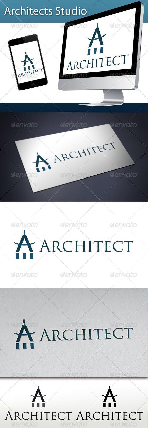 Architects Studio Logo 1 — Vector EPS web logo horizon