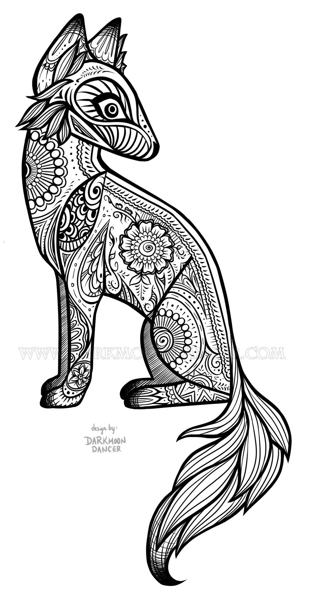 Coyote tattoo | Tats and other cool stuff | Pinterest | Coyote ...