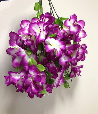 Clearance 2 x bunches artificial hanging silk flowers artificial clearance 6 x bunches artificial hanging silk flowers artificial plants trees mightylinksfo