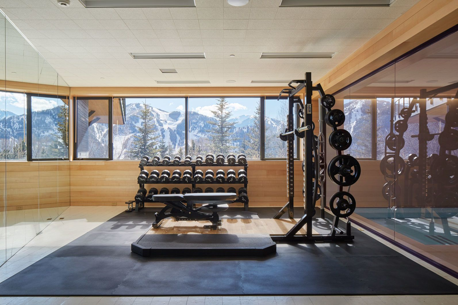 10 Home Gyms That Will Inspire You to Sweat | Pinterest | Gym design ...