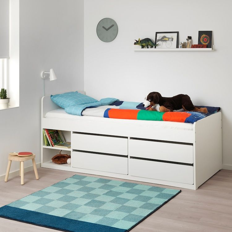 SlÄkt Bed Frame W Storage Slatted, Ikea Bed Frame With Storage Canada