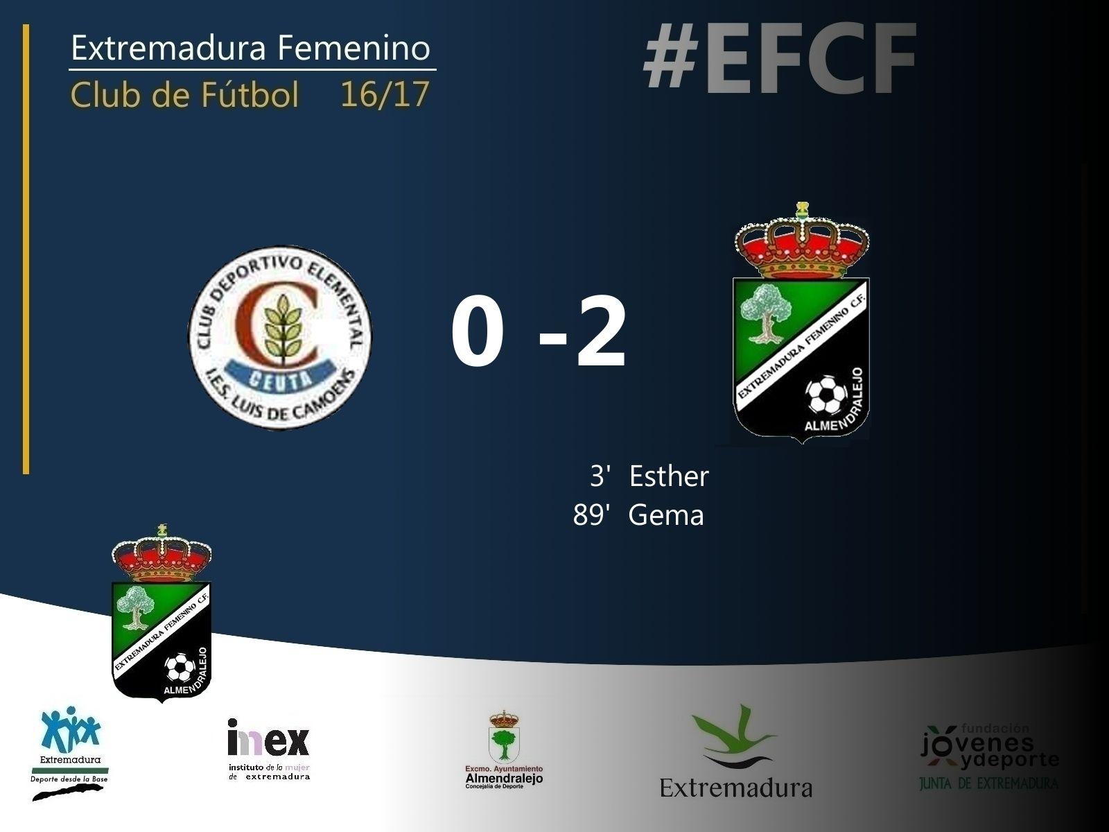 Segunda División | Jornada 7   Luís de Camoens (Ceuta) 0-2 Extremadura FCF   Goles: Esther y Gema    #EFCF