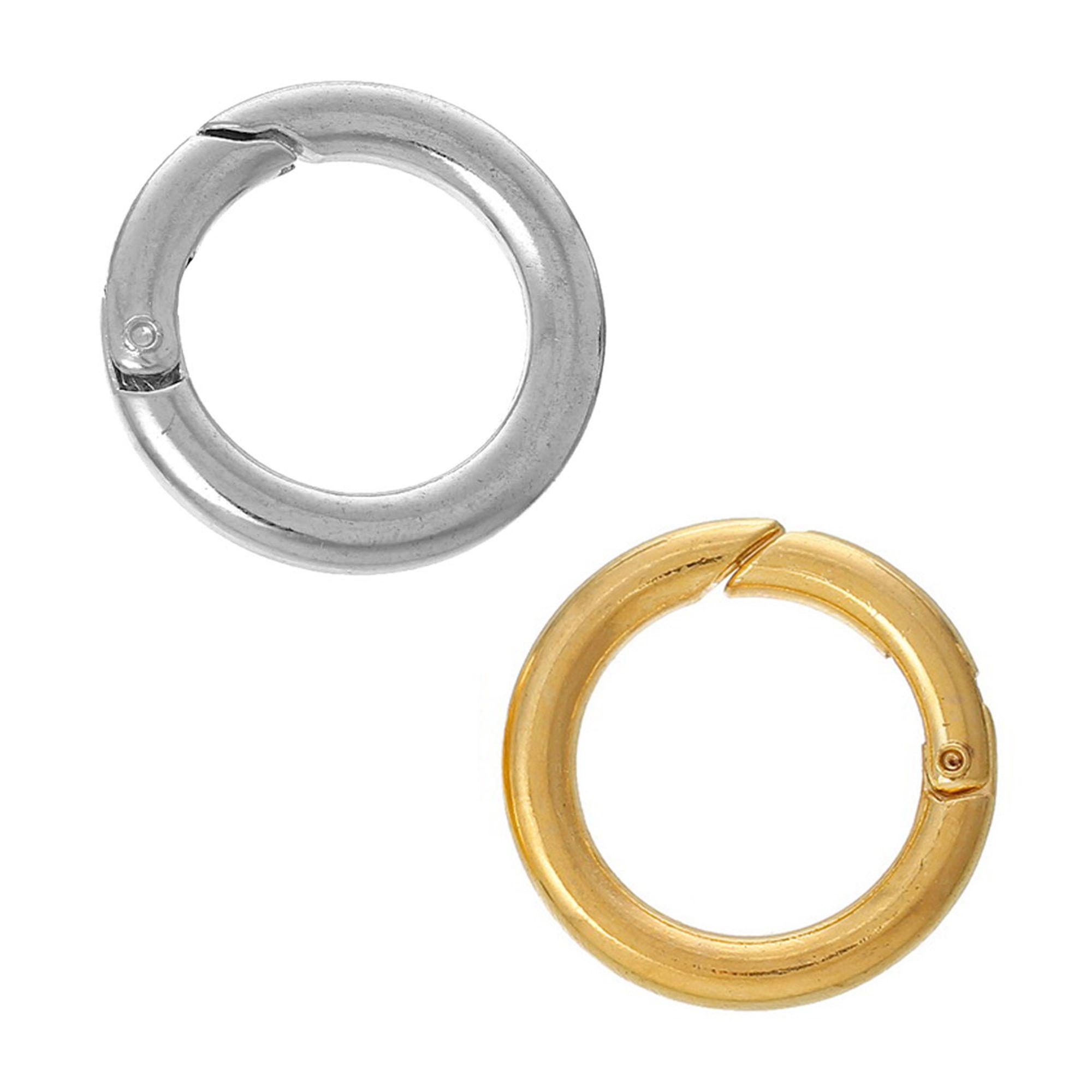 5 Sicherheitsringe 25mm silber gold Karabiner Ringverschluss dick ...