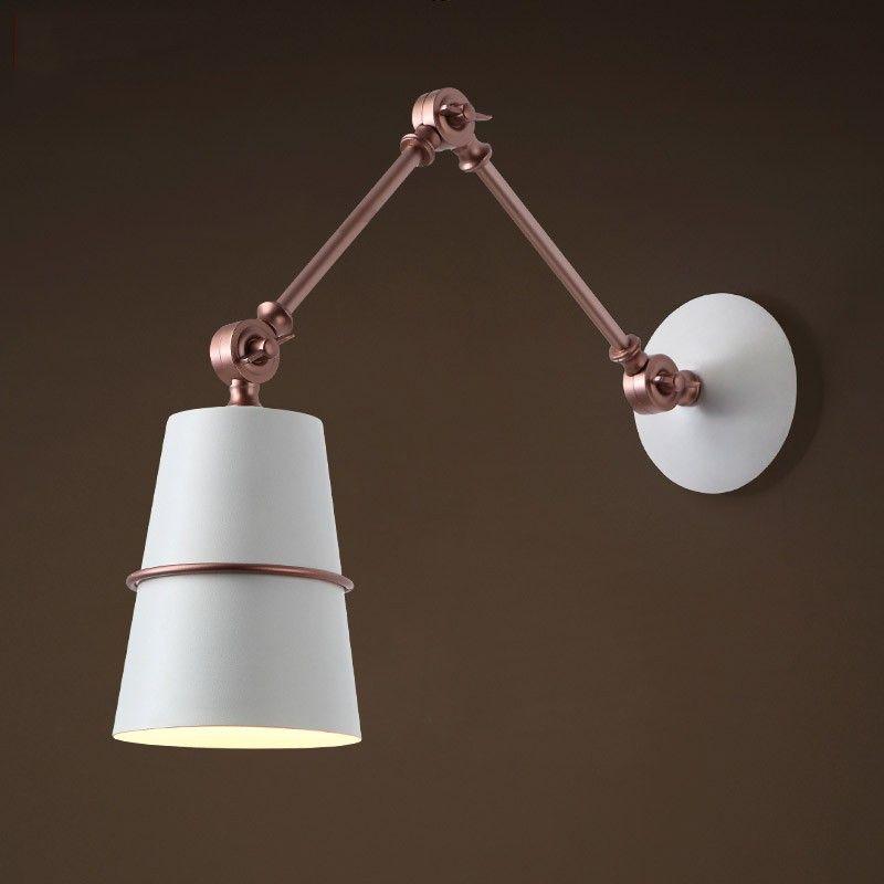 doracy metal 1light swing arm wall lamp indoor sconces