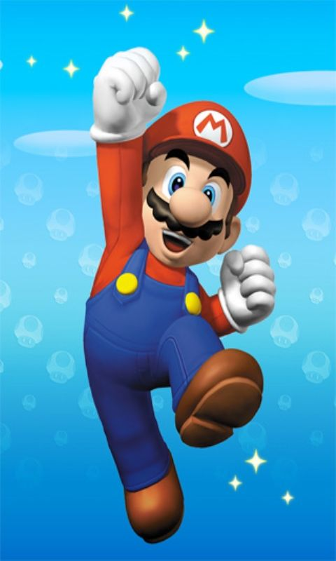 Super Mario Jumping Position iPhone Wallpaper in 2019