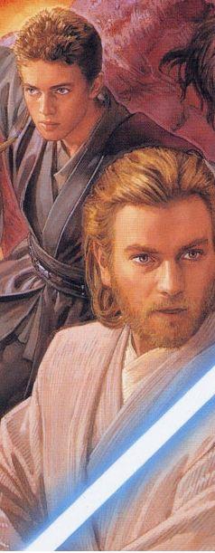Anakin and Obi-Wan (from Star Wars Jedi Quest cover art by Tsuyoshi Nagano)