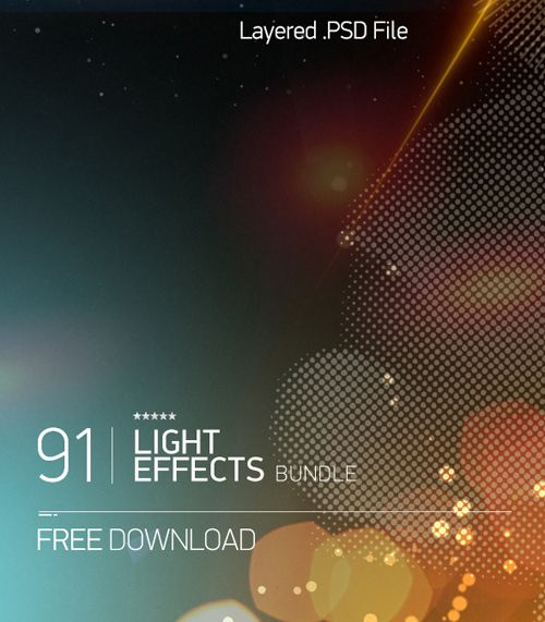 Free 91 Light Effects PSD #freepsdfiles #graphicspsd