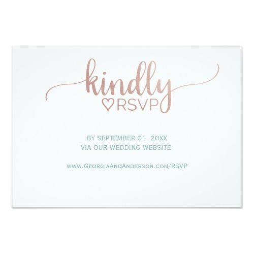 Wedding Websites Ideas: Elegant Rose Gold Calligraphy Wedding Website RSVP