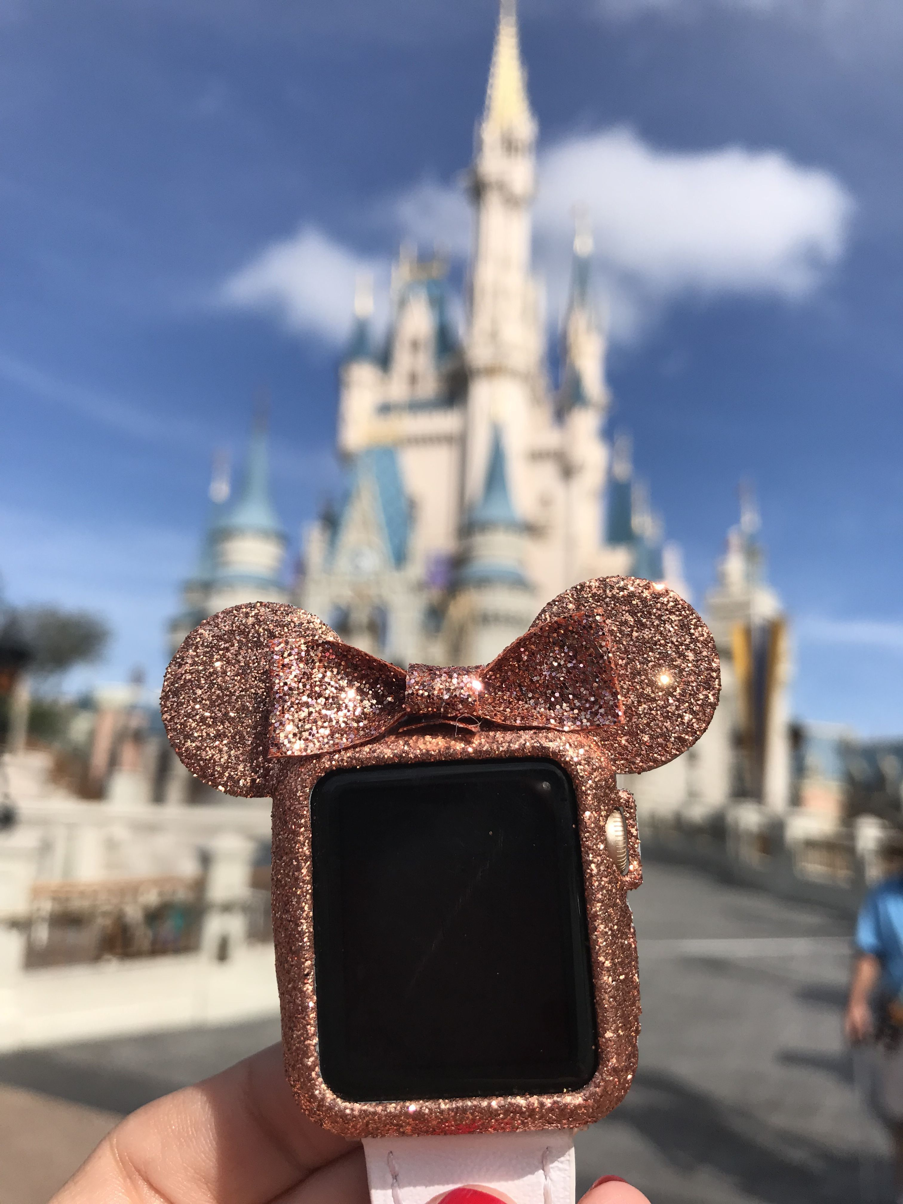 Rose Gold Mickey case applewatch Apple watch fashion