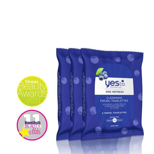Sale Price: $5.98 10 ct Yes to Blueberries Travel Wipes - Buy 2, Get 1 Free