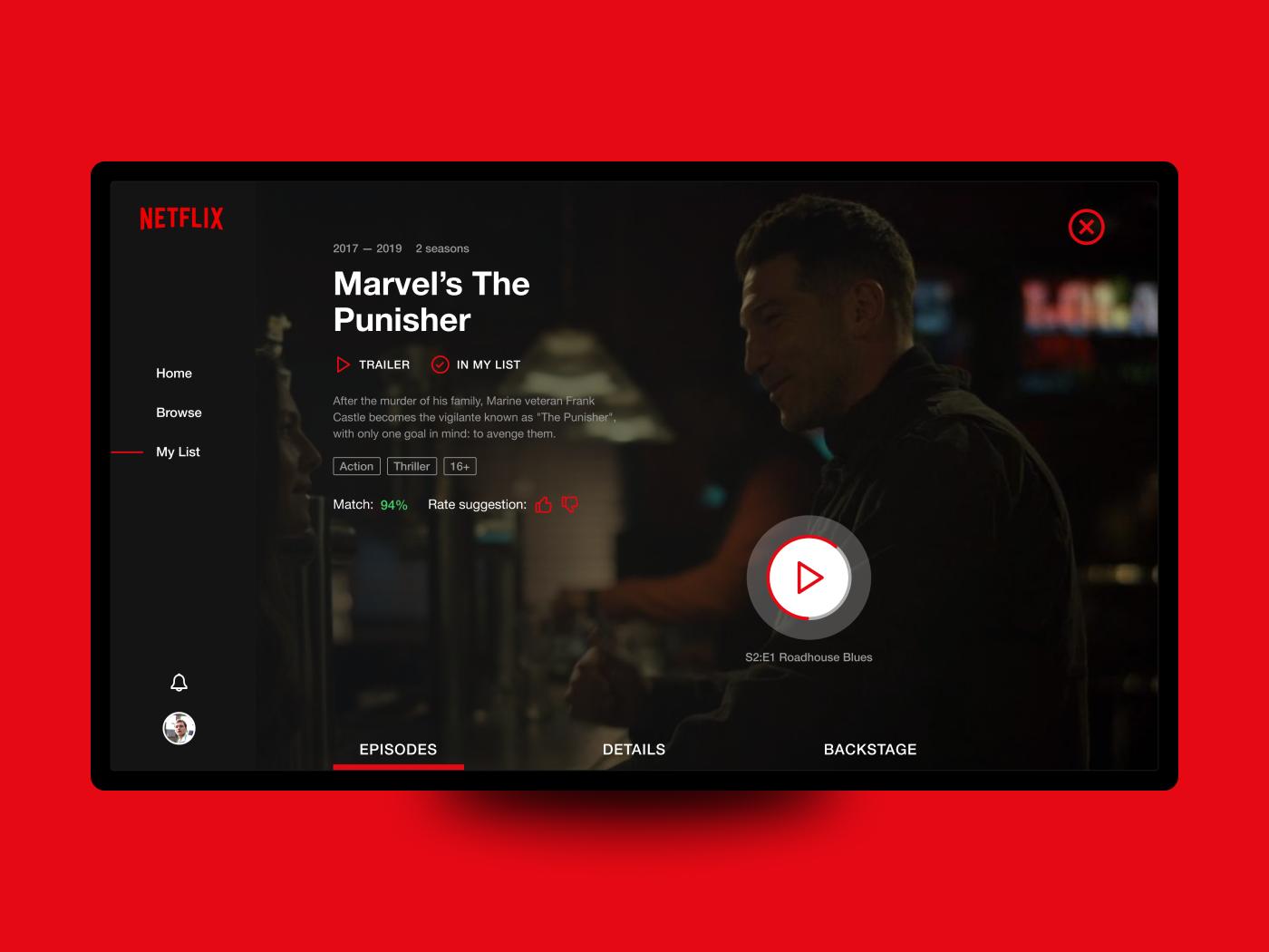 Netflix Tv Show Page Concept Netflix Tv Shows Netflix Tv Netflix