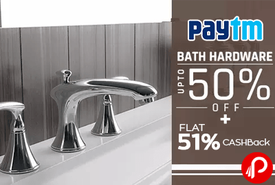 #Paytm #offers 50% Discount + Extra 51% #Cashback On Taptree Bath