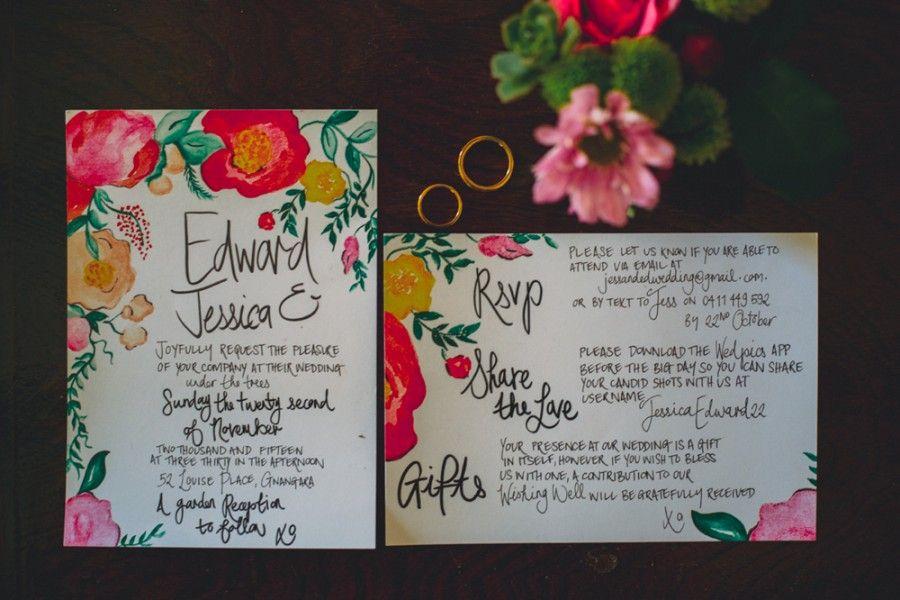 watercolour wedding invitations Wedding plans Pinterest