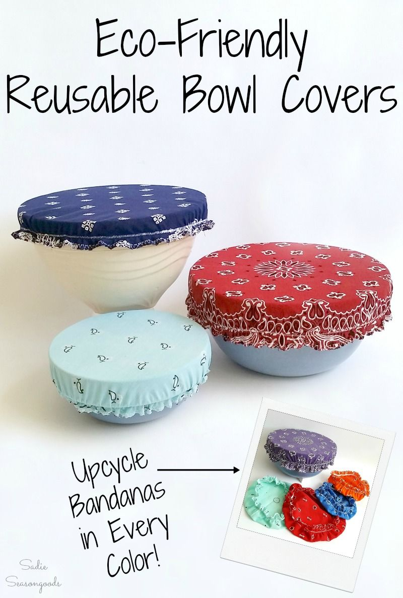 Reusable Bowl Covers with Bandana Fabric for Eco-Friendly Green Living