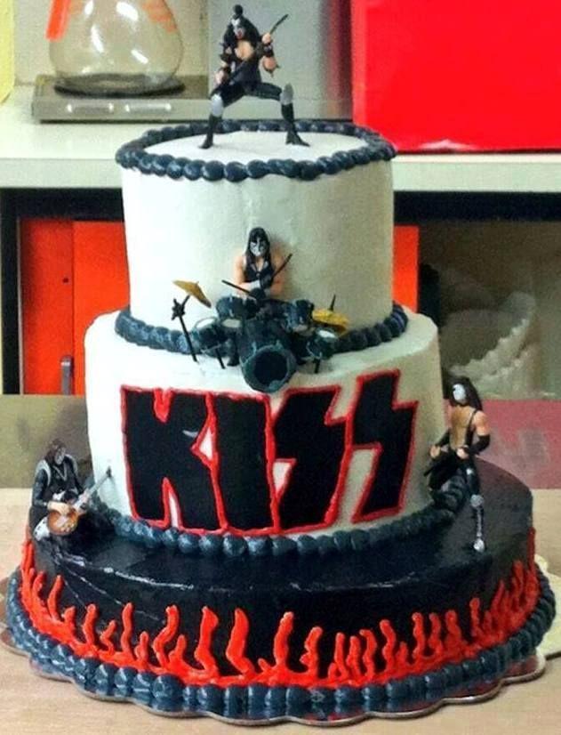 Kiss Cake Kiss Rock Band Cakes Pinterest Cake Kiss And
