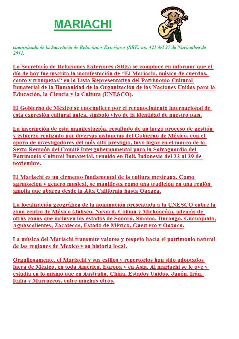 El Mariachi Es Incluido Por La Unesco En La Lista Del Patrimonio Cultural Inmaterial De La Humanidad