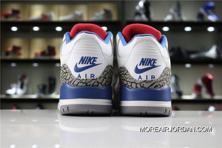 "best website bf85d df52e Air Jordan 3 ""True Blue"" White Fire Red-True Blue 854262-106 Men And Women  Shoes Discount"