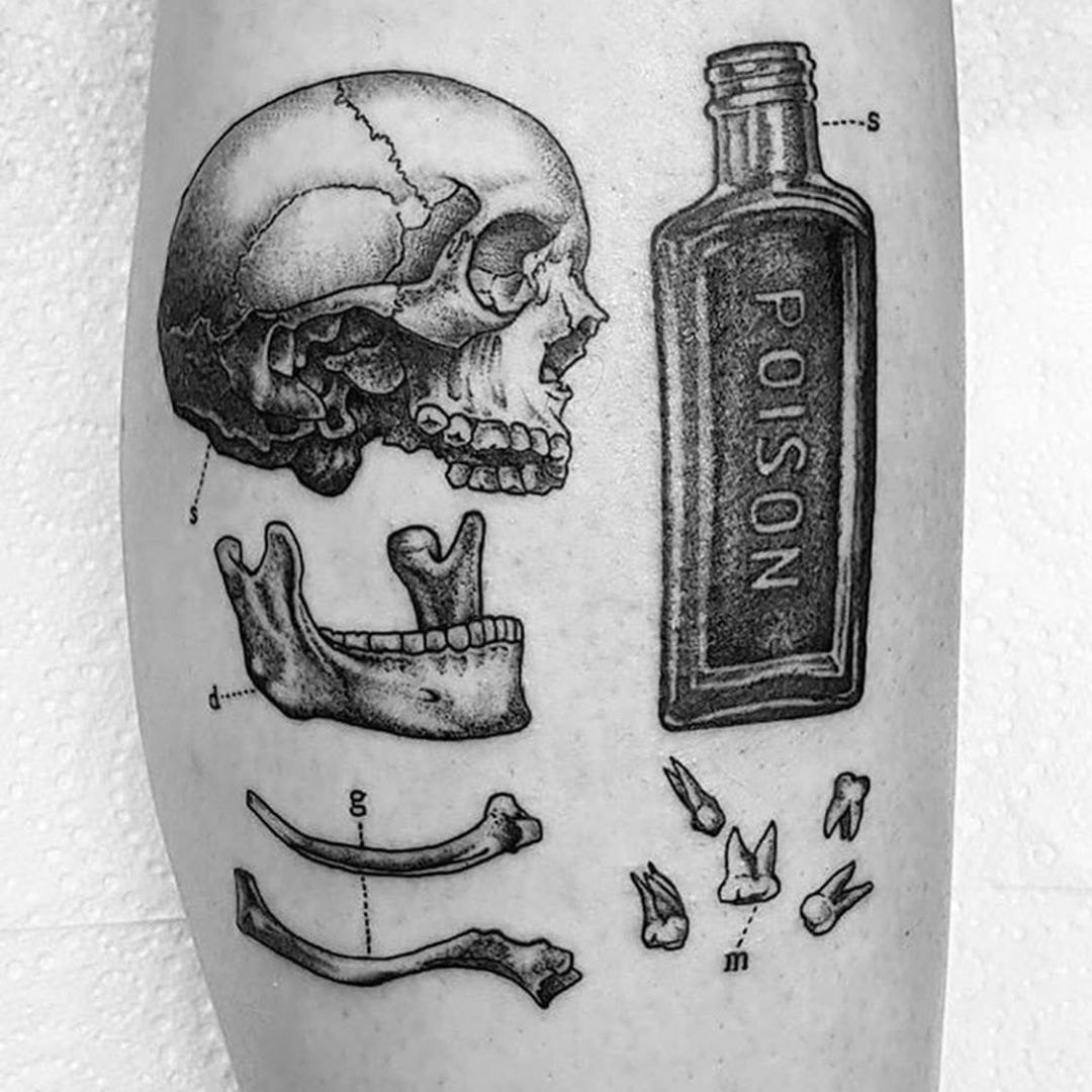 """Neck And Jaw Tattoo: Illustrated Monthly On Instagram: """"By @lukedoliver"""