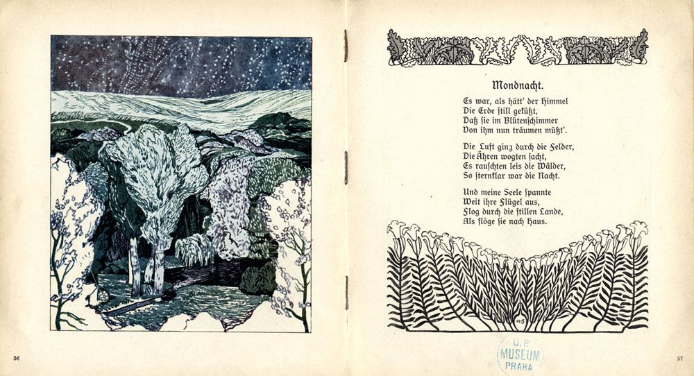 'Gedichte von Josef Freiherr von Eichendorff/ Poems by Josef Freiherr von Eichendorff' illustrated by Paul Horst-Schulze. Published 1903 by Martin Gerlach & Co., Wien & Leipzig. See the complete book...