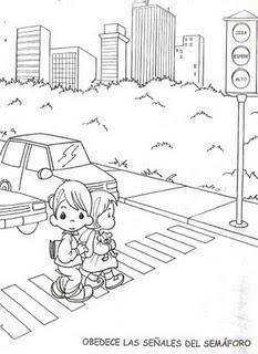 Dibujos para colorear de educación vial | Saugus eismas