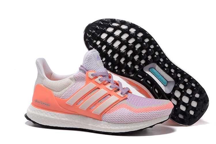 1797 : Adidas Ultra Boost Skor Dam Light Lila Orange Vit