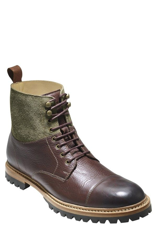 Cole Haan 'Judson' Cap Toe Mens Mid Boot. Love the olive and brown combo! Available | Nordstrom