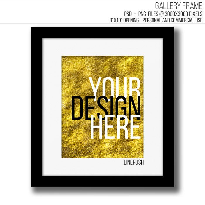 SALE! Black & White modern minimalist 8x10 gallery frame template ...