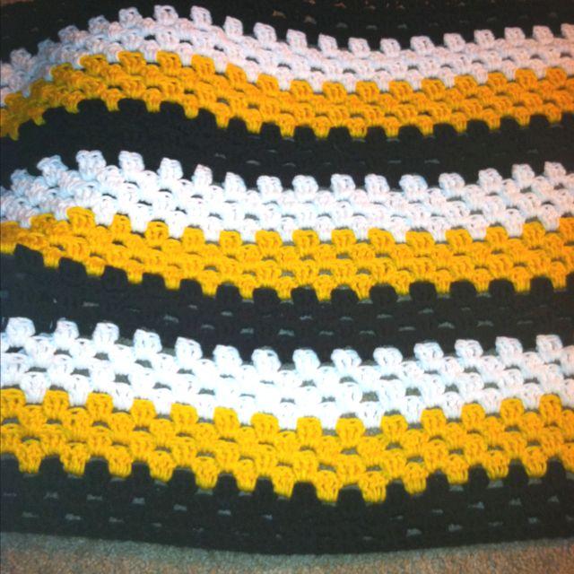Steelers Crochet Granny Stripe Afghan My Latest Project Crochet Football Crochet