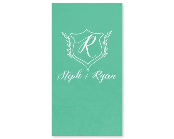 Guest Towel Wedding Napkin Custom Monogram Restroom 3ply Party