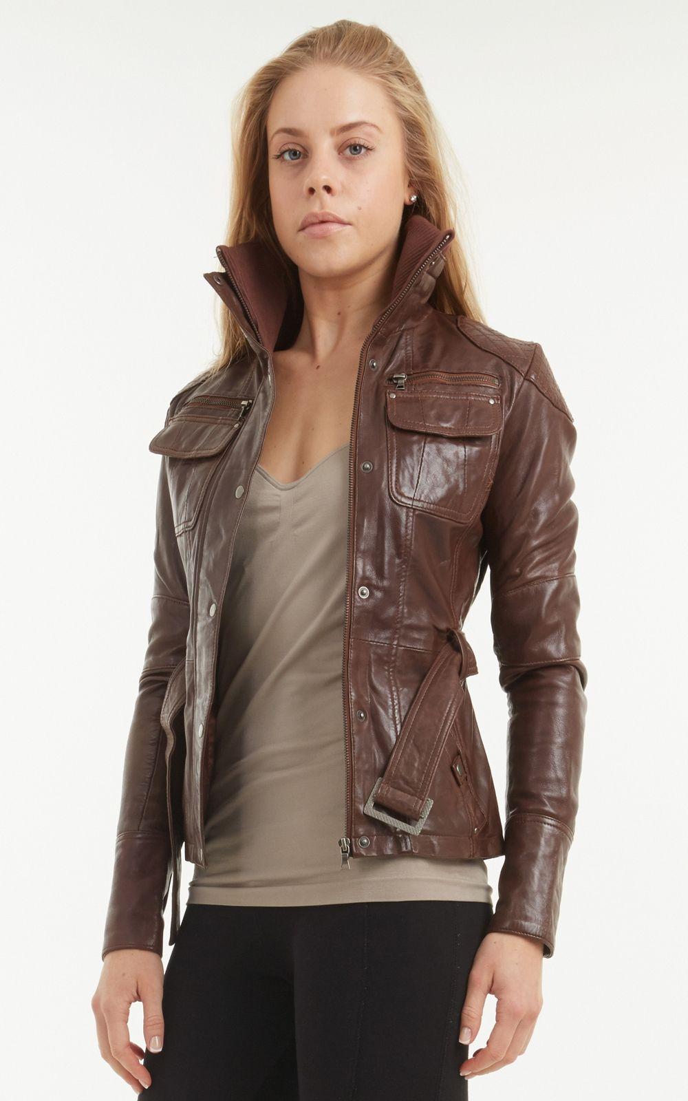 Jackets For Women Leather Coat Womens Leather Jacket Women Brown [ 1600 x 1000 Pixel ]
