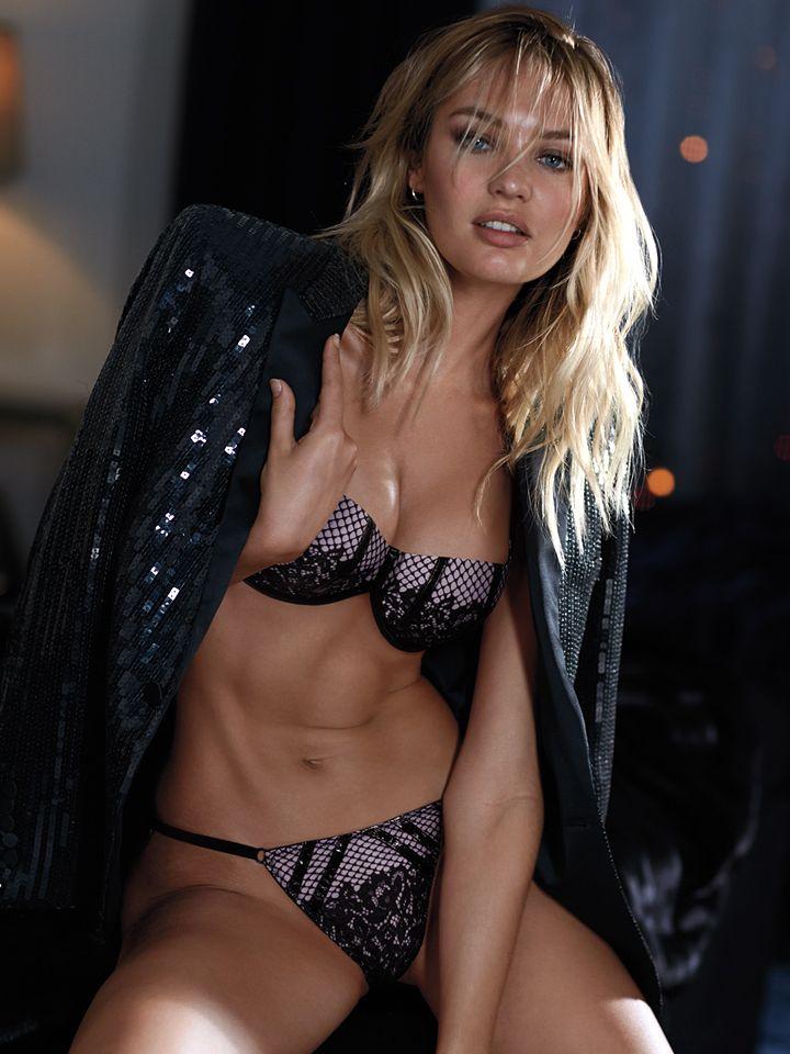 Sparkles, fishnet lace, faux-leather trim…The holidays have arrived. | Victoria's Secret Scandalous Balconet Bra & V-String #WhatAngelsWant