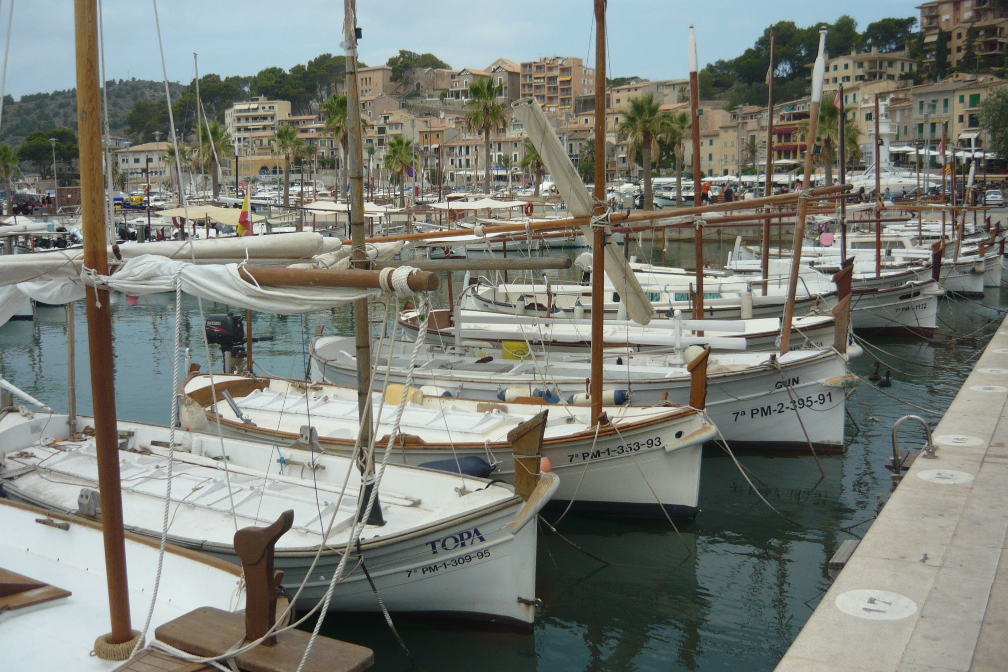 Boats in the port of Sóller, Mallorca - Spain