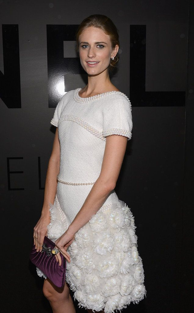 "Julie Henderson wore a Spring 2012 Chanel dress at the Chanel Bijoux de Diamants 80th anniversary party in NYC. ""This Week's Best Dressed"" fashionologie.com #2231"