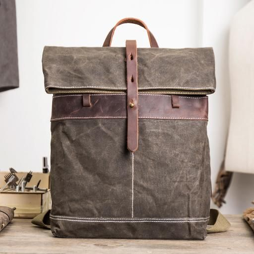 81dde2857f Waxed Canvas Trendy Backpacks