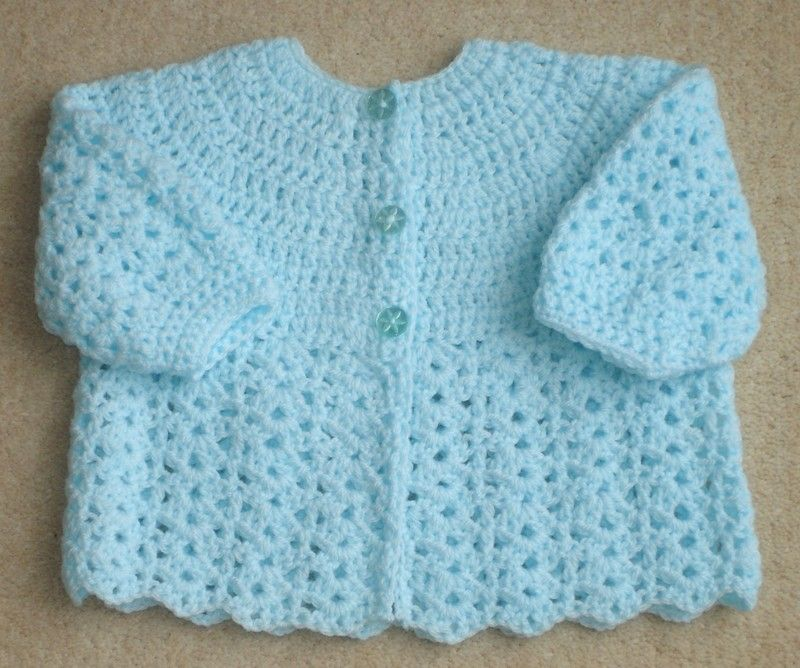 Beginner Crochet Sweater Patterns Free : Free Crochet Baby Sweater Patterns CROCHET MATINEE ...