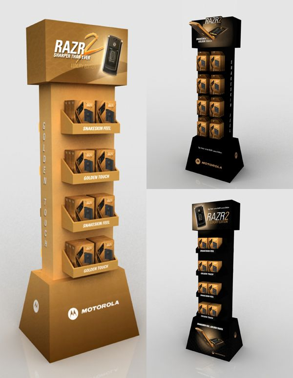 In-Store P.O.P. Displays Concepts [Motorola] on Behance
