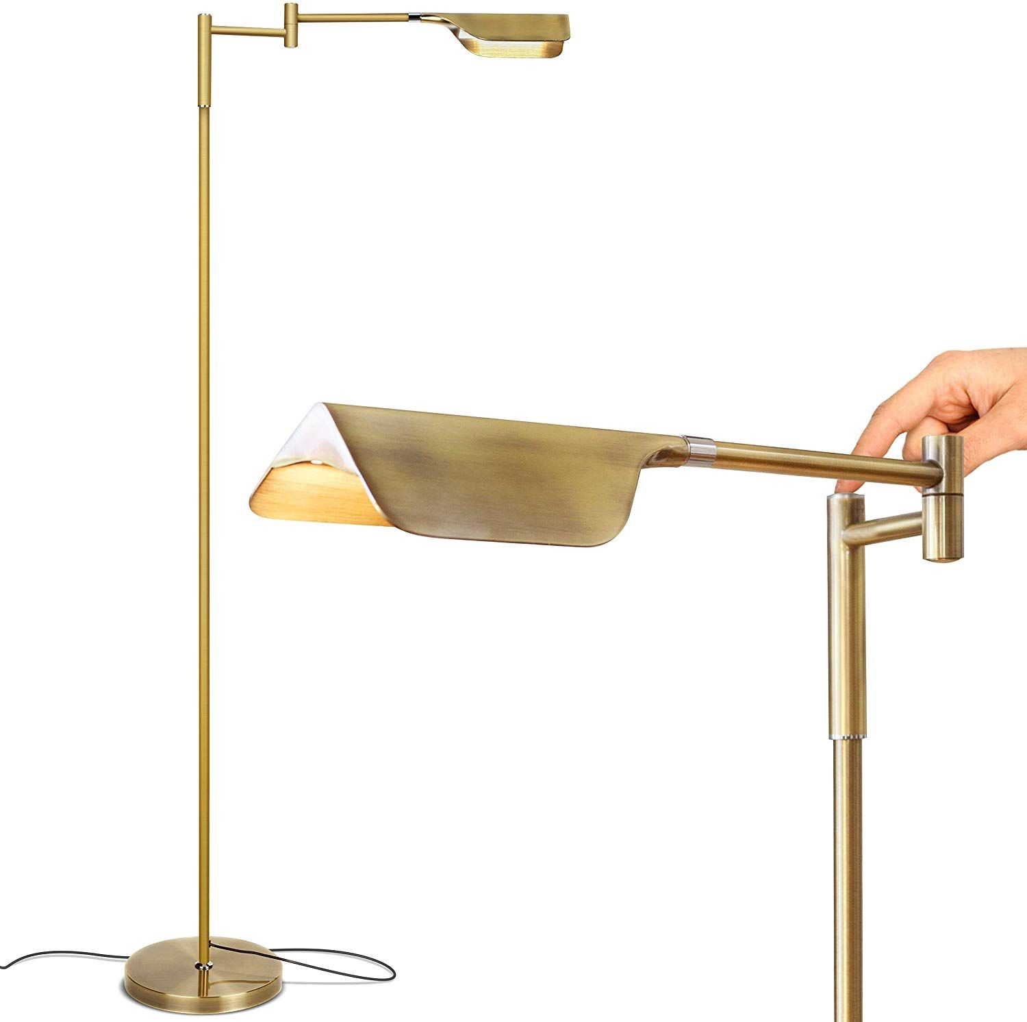 Brightech Leaf Touch LED Floor Lamp for Reading, Crafts