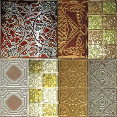 Decorative Tin Tiles For Wall Tin Tiles Custom 5 Piece Sample Pack  Metal Ceiling Tiles