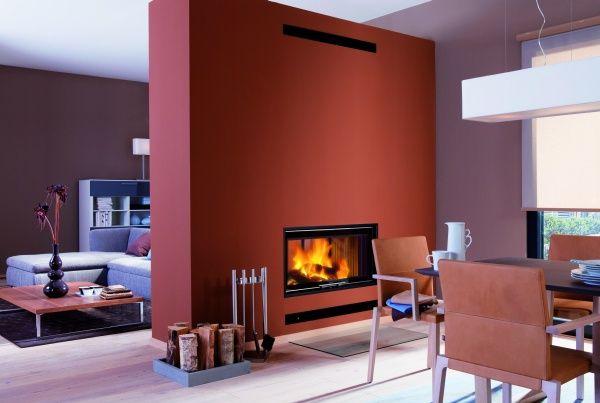 kamin trennwand offene Küche Pinterest Kaminfeuer, Sucht und - moderne luxus kamine