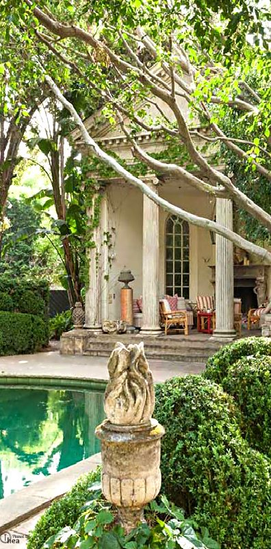 Architecturally Salvaged Roman Columns Add Charm And