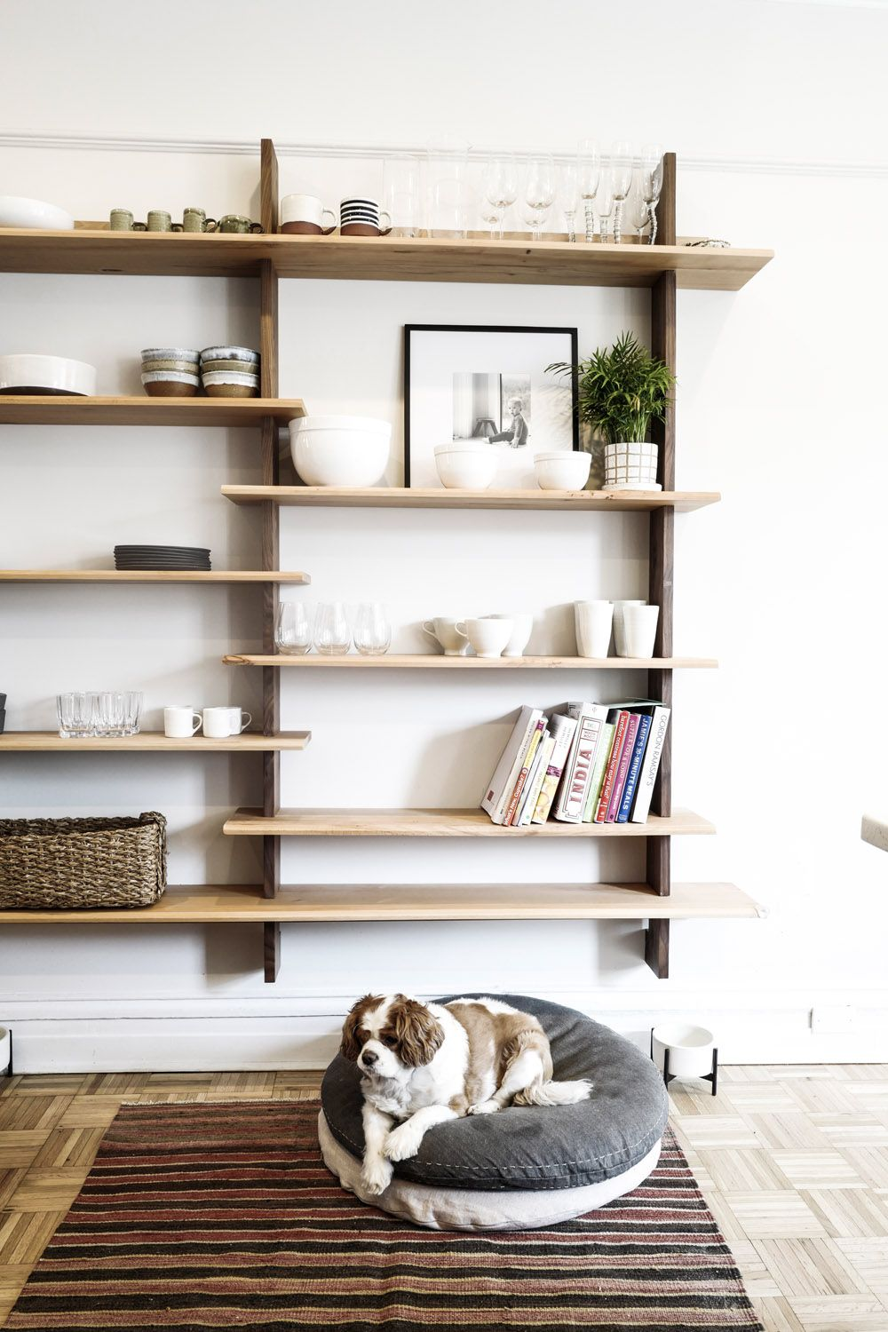A Design Couple Brings Scandinavian Style To Their Brooklyn Brownstone Rue Wood Shelves Brooklyn Brownstone Scandinavian Bookshelves