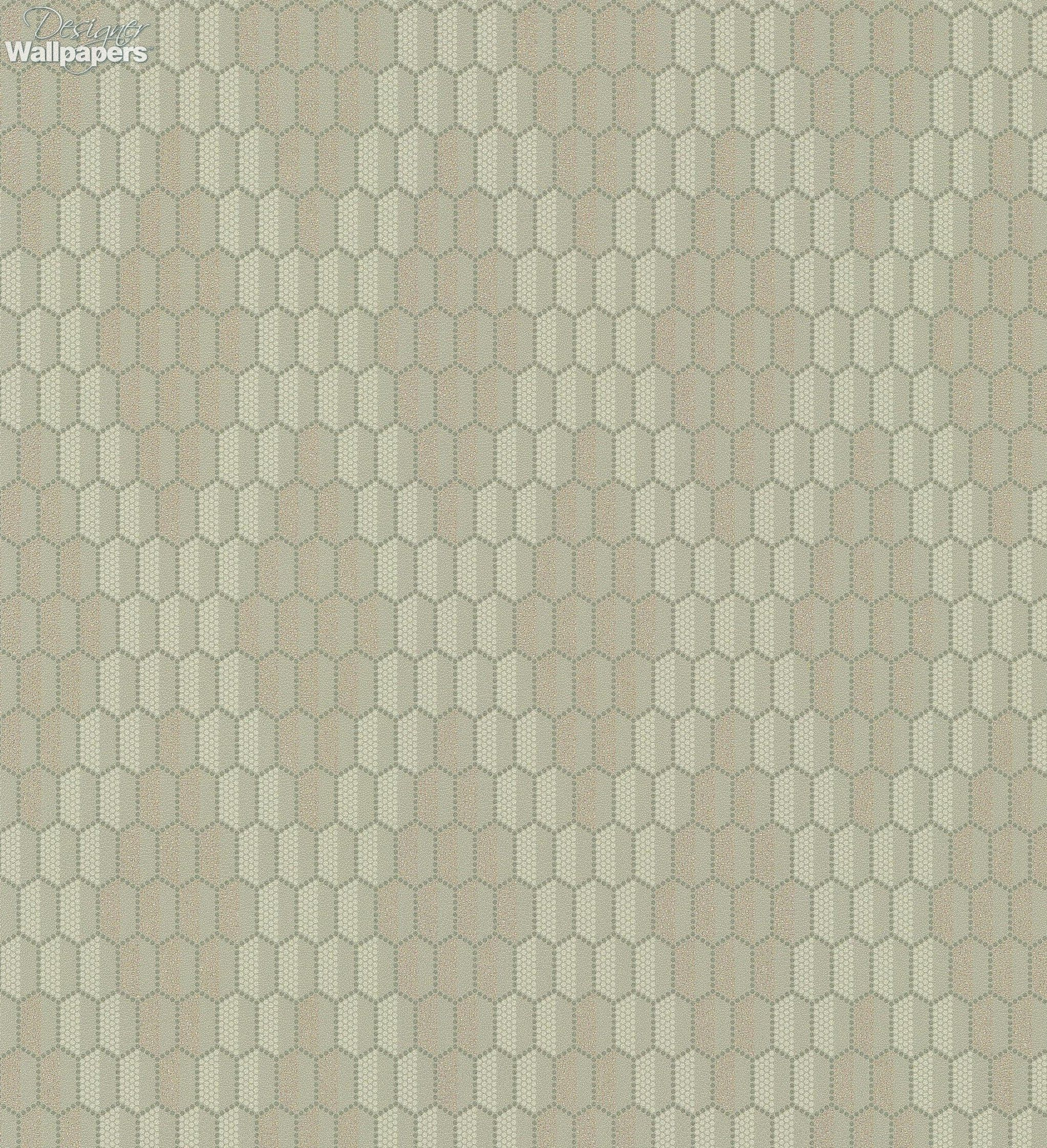 This Stunning Contemporary Wallpaper Features A Stylised Honeycomb Pattern Thats Composed Of Many Tiny Dots