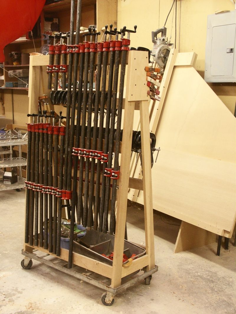 Clamp rack taller pinterest clamp woodworking and for Mobile lumber storage rack plans