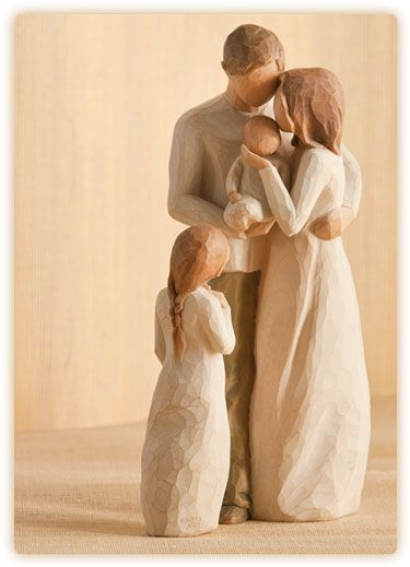 Parents With Two Children Girl Willow Tree Figurines Willow Tree Family Willow Tree Angels