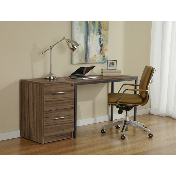 parsons desk with file cabinet in walnut 8343 room by room rh pinterest co uk