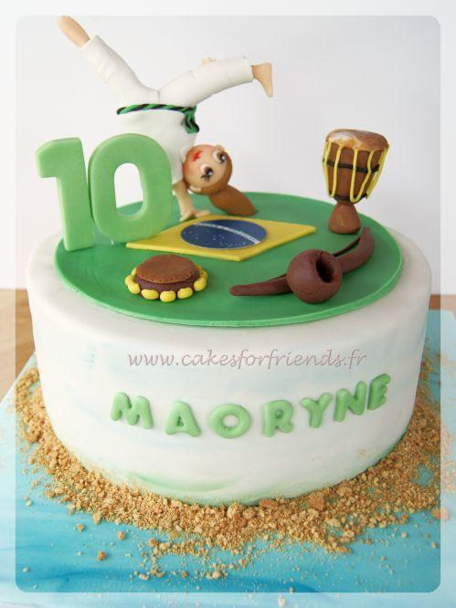Capoira cake, gateau capoeira