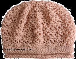 Slouch hat to match keyhole scarf Tutorial: boina floja en punto peruano tejida en dos agujas o palitos!