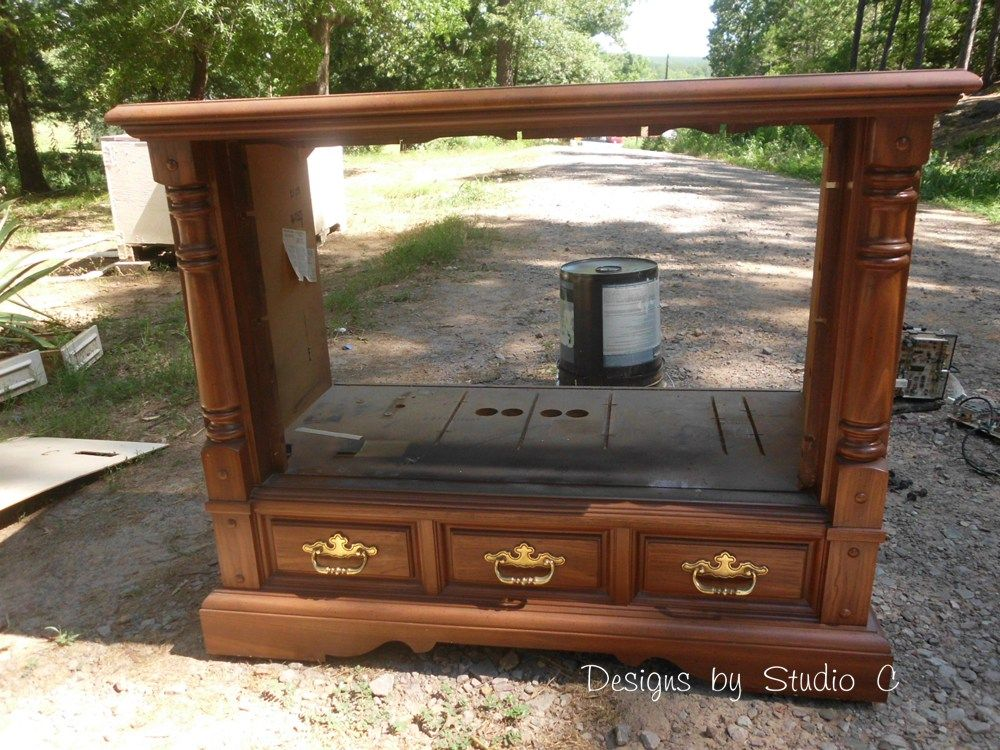 How To Revamp An Old Console TV Cabinet 4