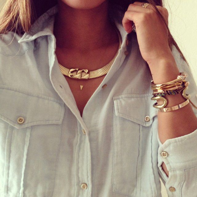 Double Link Classic Choker by Roman Luxe